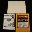 Casino Poker Videocart 25 - Fairchild Channel F - Complete CIB - Extremely Rare