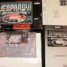 Jeopardy! Deluxe Edition - SNES Super Nintendo - Complete CIB