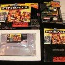 Super Pinball Behind the Mask - SNES Super Nintendo - Complete CIB