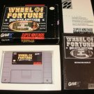 Wheel of Fortune Deluxe Edition - SNES Super Nintendo - Complete CIB