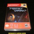 Perfect Dark - N64 Nintendo - With Manual & Custom Case