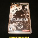 Metal Gear Solid Peace Walker - Sony PSP - With Box - Black Label Version