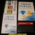 Global Defense - Sega Master System - Complete CIB