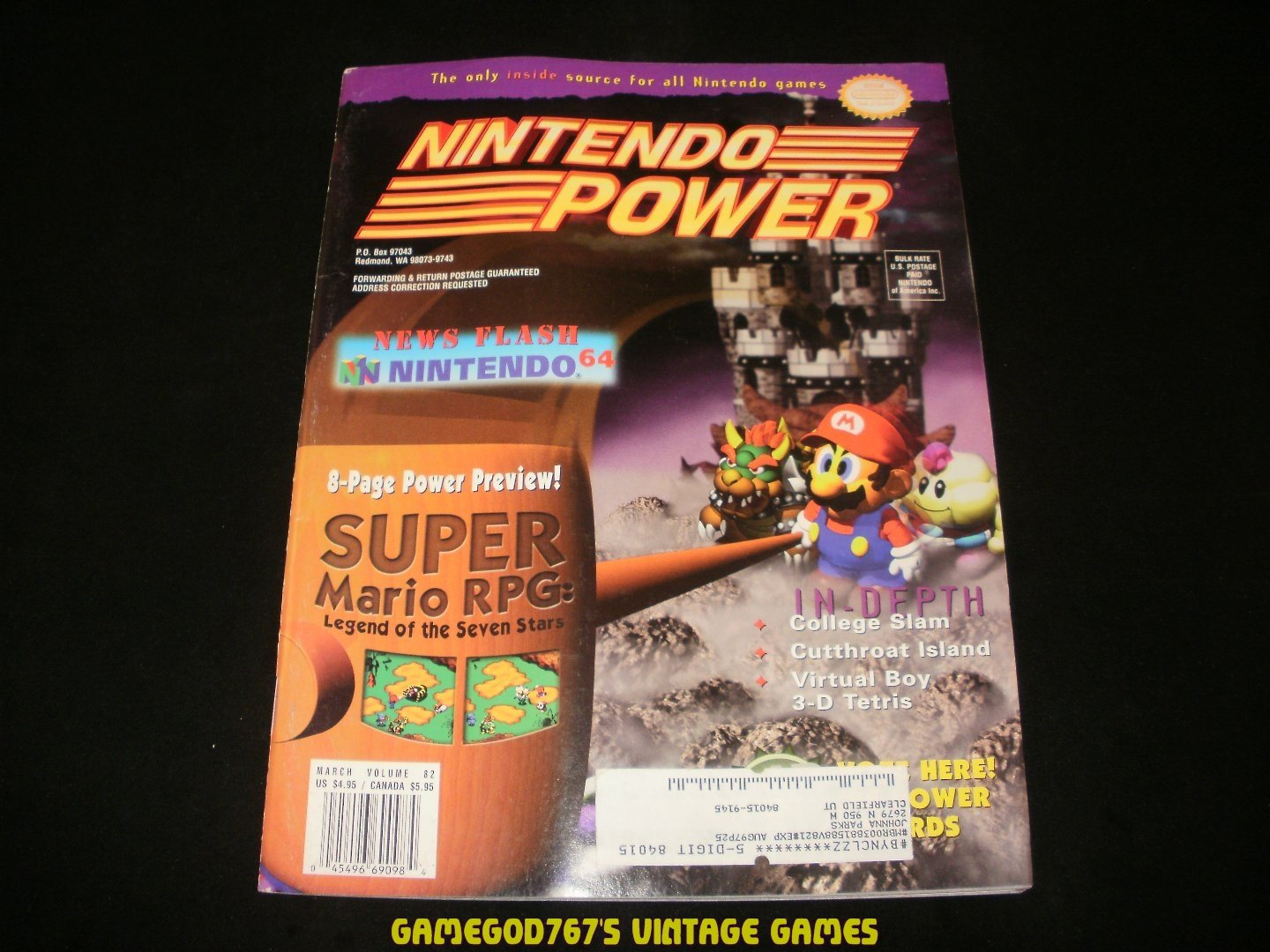 Nintendo Power - Issue No. 82 - March, 1996