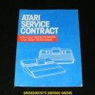 Atari Service Contract (1983)