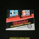 Super Mario Bros Duck Hunt - Nintendo NES - Manual Only