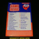 Game Genie Code Update Book - Galoob 1991 - Volume 2, No.1 - Rare