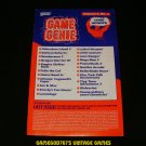Game Genie Code Update Book - Galoob 1991 - Volume 2, No.2 - Rare