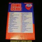 Game Genie Code Update Book - Galoob 1991 - Volume 1, No.3 - Rare