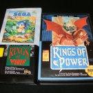 Rings of Power - Sega Genesis - With box & Poster - Rare