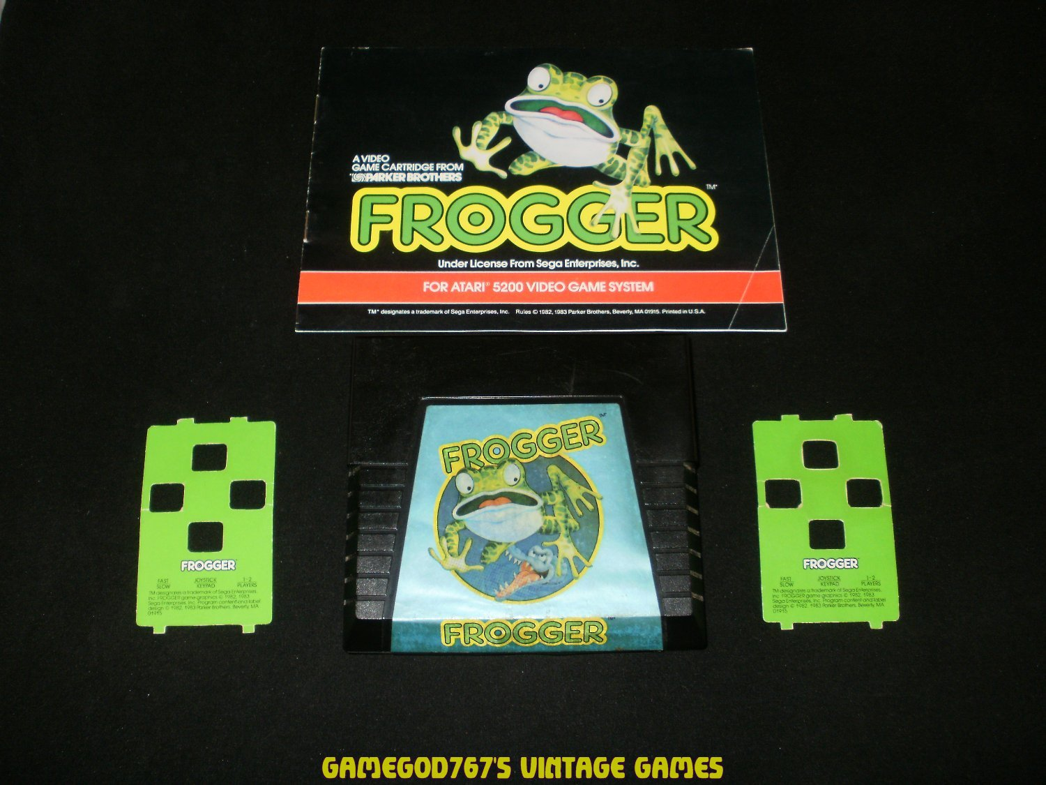 Frogger - Atari 5200 - With Manual & Overlays