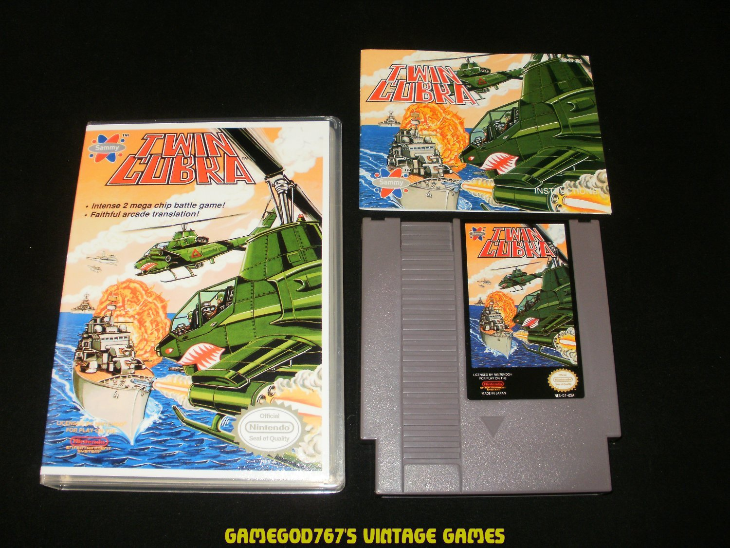Twin Cobra - Nintendo NES - With Manual & New Custom Case