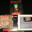 SimCity - SNES Super Nintendo - Complete CIB