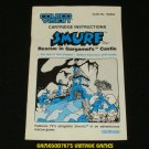 Smurf Rescue in Gargamel's Castle - ColecoVision - Manual Only