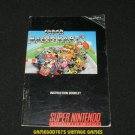 Super Mario Kart - SNES Super Nintendo - 1992 Manual Only