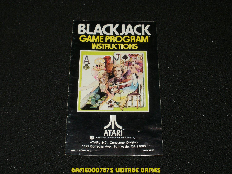 Blackjack - Atari 2600 - Manual Only