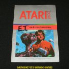 E T the Extra-Terrestrial - Atari 2600 - Manual Only