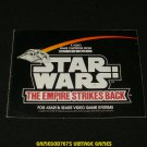 Star Wars The Empire Strikes Back - Atari 2600 - Manual Only