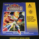 Story of Atari Missile Command - 33 1/3 RPM Record - Kid Stuff Records 1982 - Rare