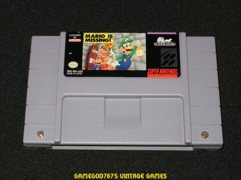 Mario Is Missing - SNES Super Nintendo