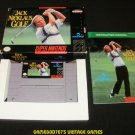 Jack Nicklaus Golf - SNES Super Nintendo - Complete CIB