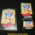 Sonic the Hedgehog - Sega Genesis - Complete CIB - Not For Resale Version