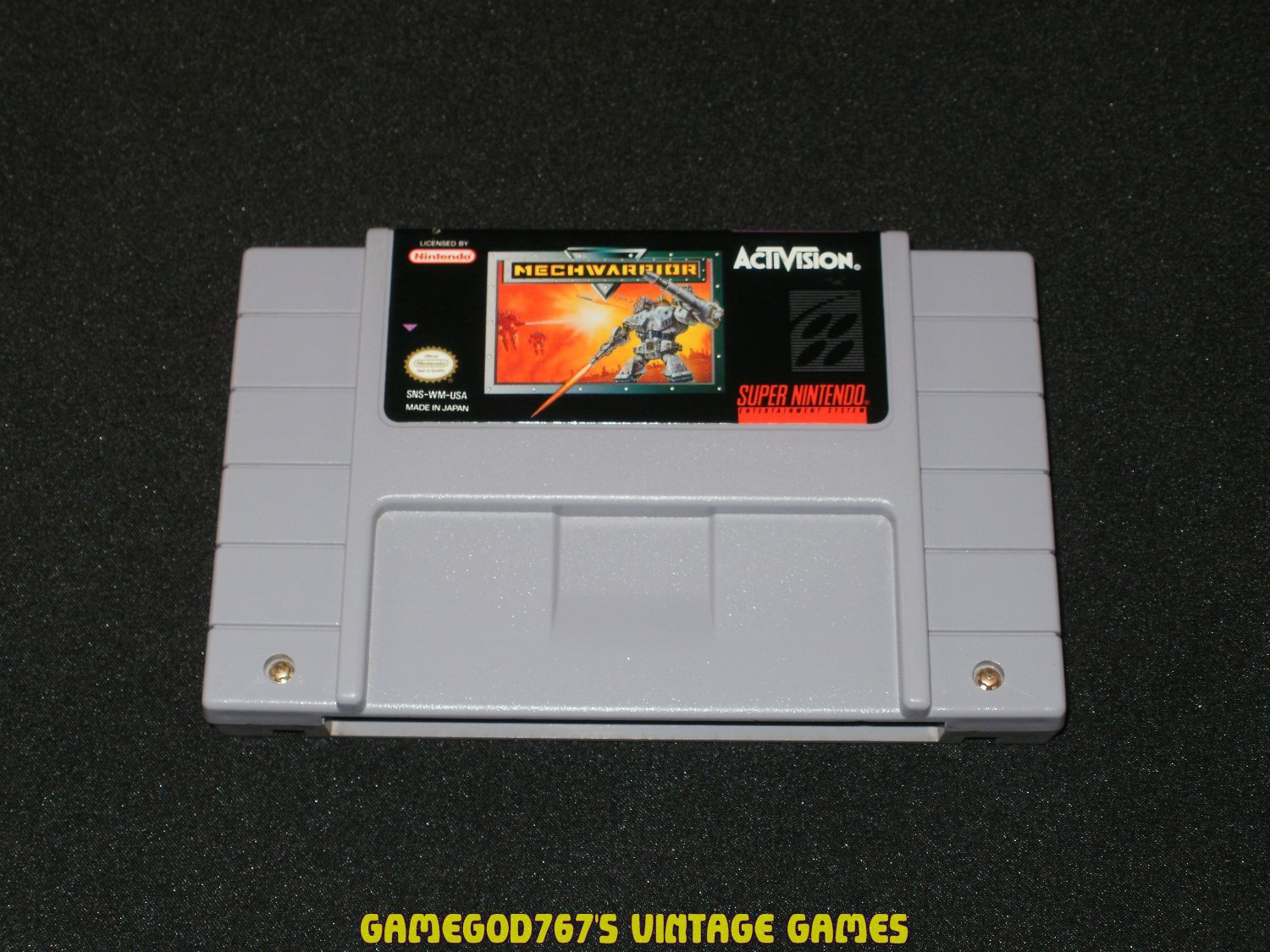 MechWarrior - SNES Super Nintendo
