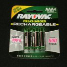 Rayovac Rechargeable AAA Batteries (4-Pack) - New Factory Sealed