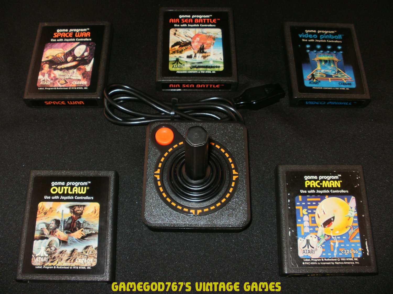 Refurbished Atari 2600 Official Joystick With 5 Games