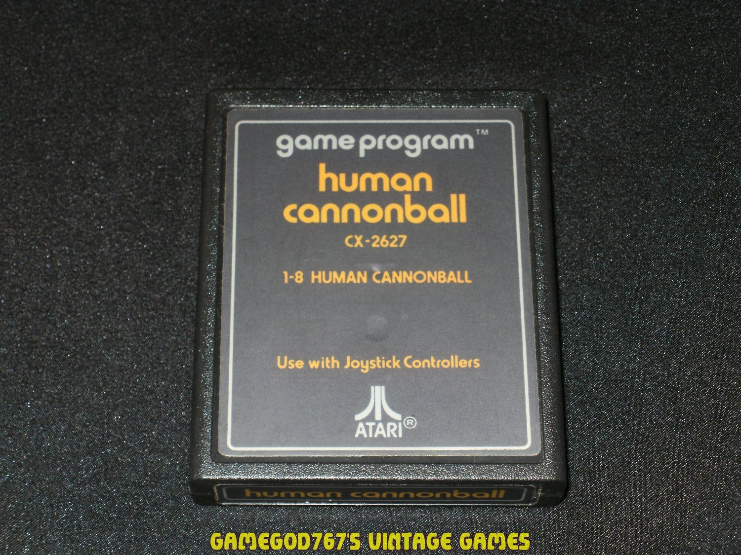 Human Cannonball - Atari 2600 - Orange Text Label Version
