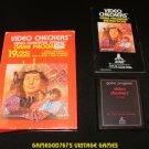 Video Checkers - Atari 2600 - Complete CIB
