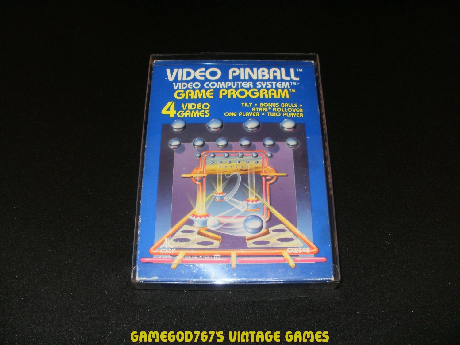 Video Pinball - Atari 2600 - Complete CIB - With Box Protector