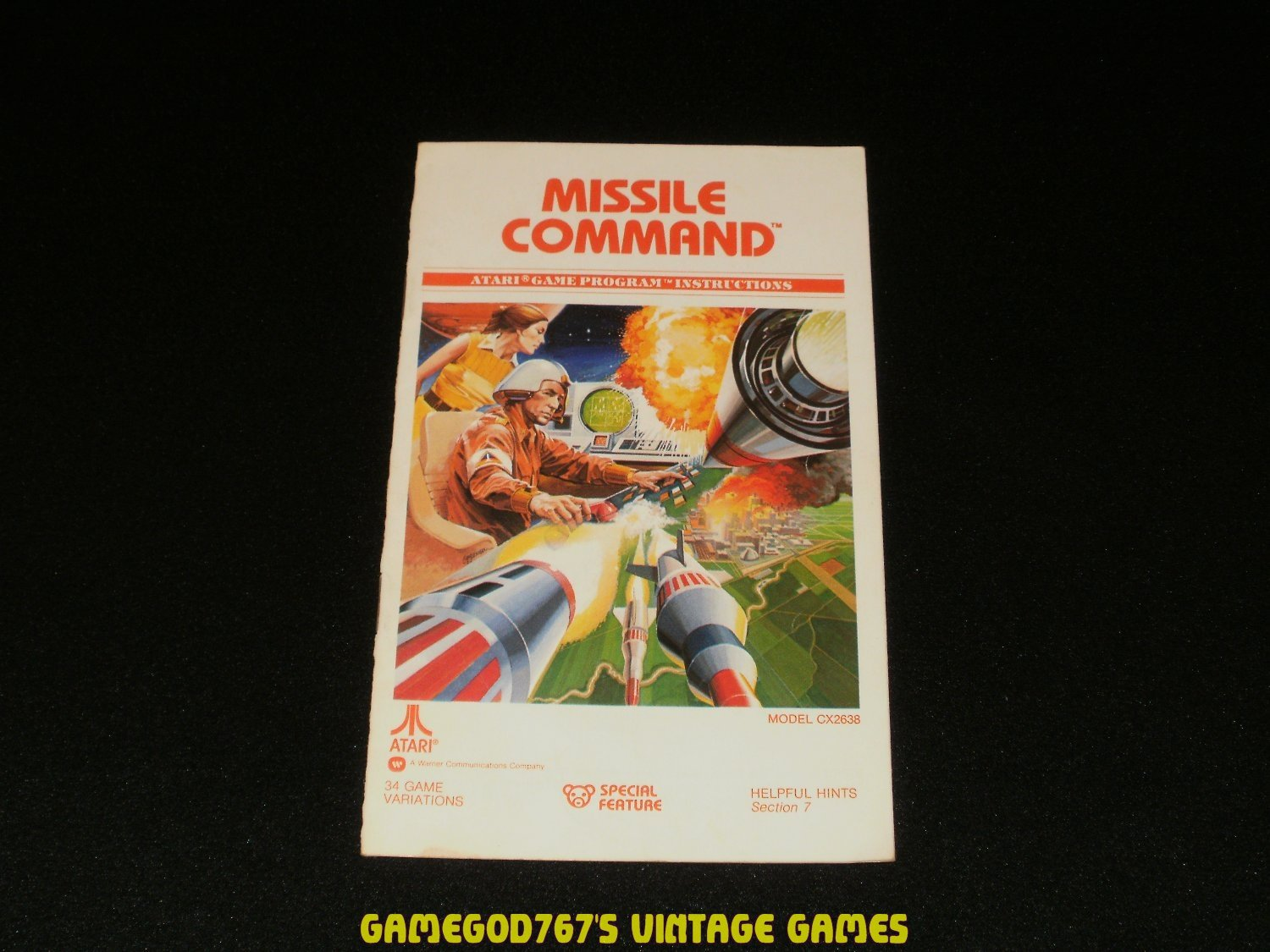 Missile Command - Atari 2600 - 1981 Manual Only