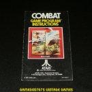 Combat - Atari 2600 - 1978 Manual Only