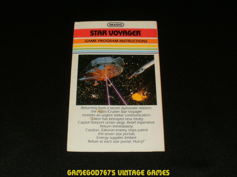 Star Voyager - Atari 2600 - 1982 Manual Only