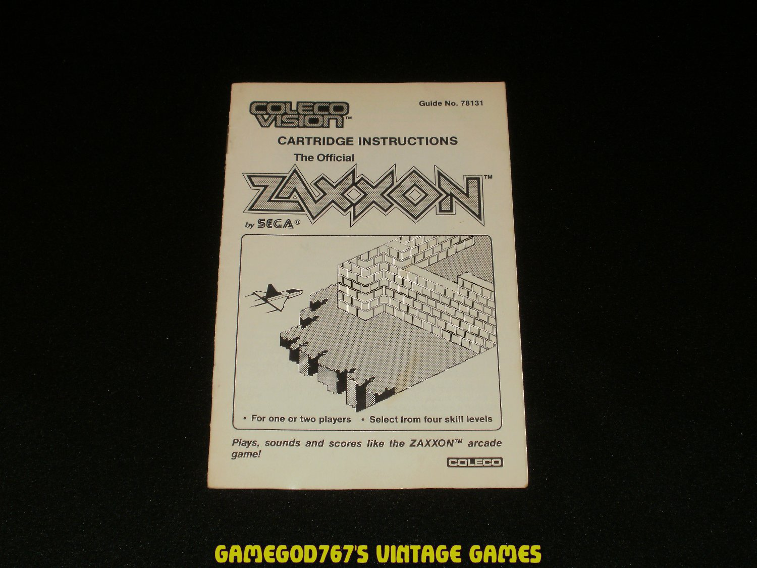 Zaxxon - ColecoVision - 1982 Manual Only