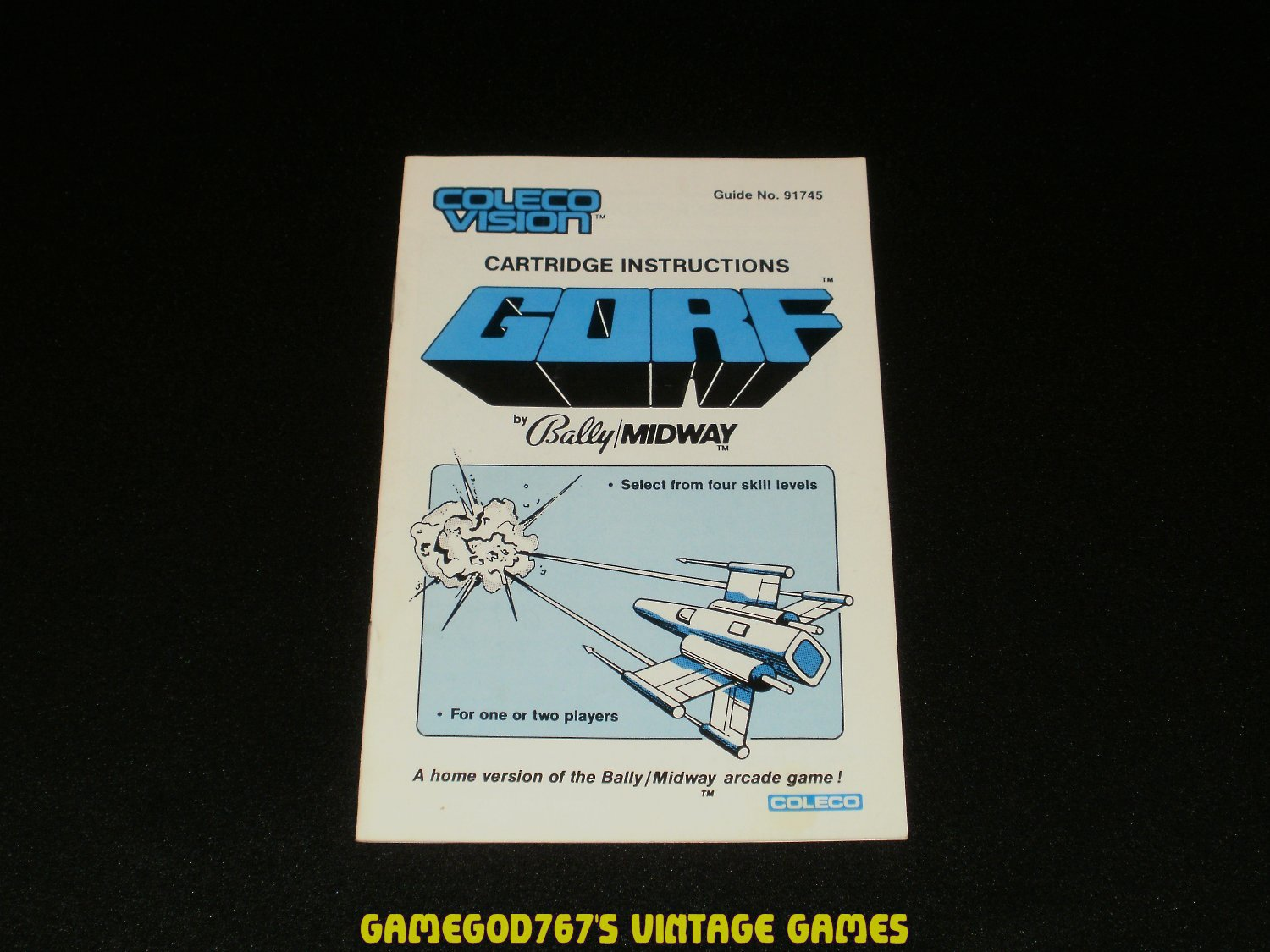Gorf - ColecoVision - 1983 Manual Only