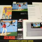 True Golf Classics Waialae Country Club - SNES Super Nintendo - Complete CIB
