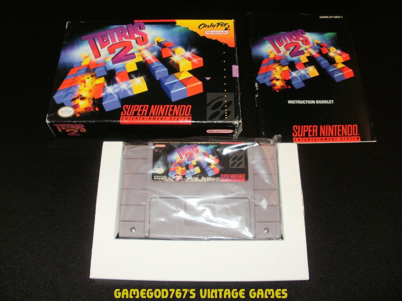 Tetris 2 - SNES Super Nintendo - Complete CIB