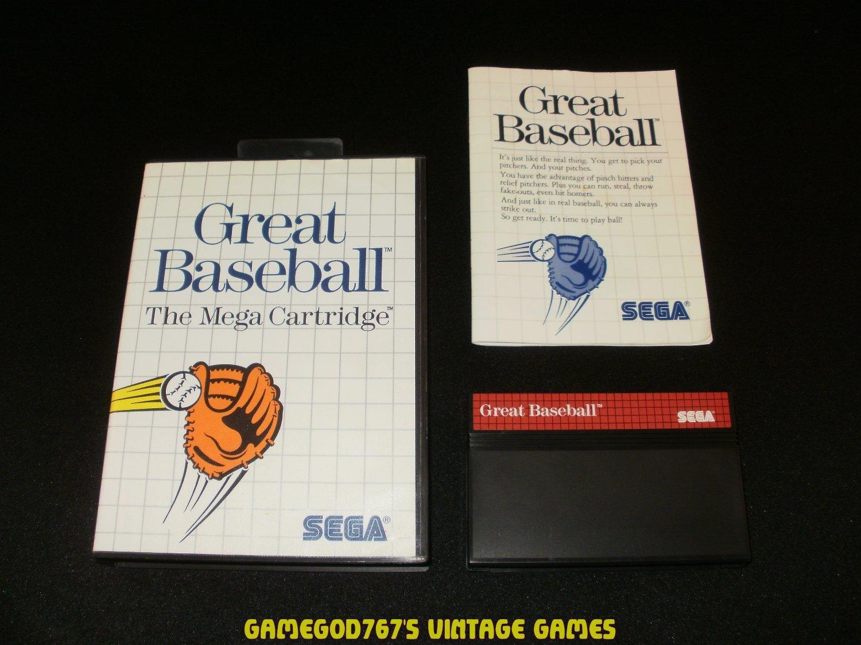 Great Baseball - Sega Master System - Complete CIB