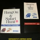 Hang On & Safari Hunt - Sega Master System - Complete CIB