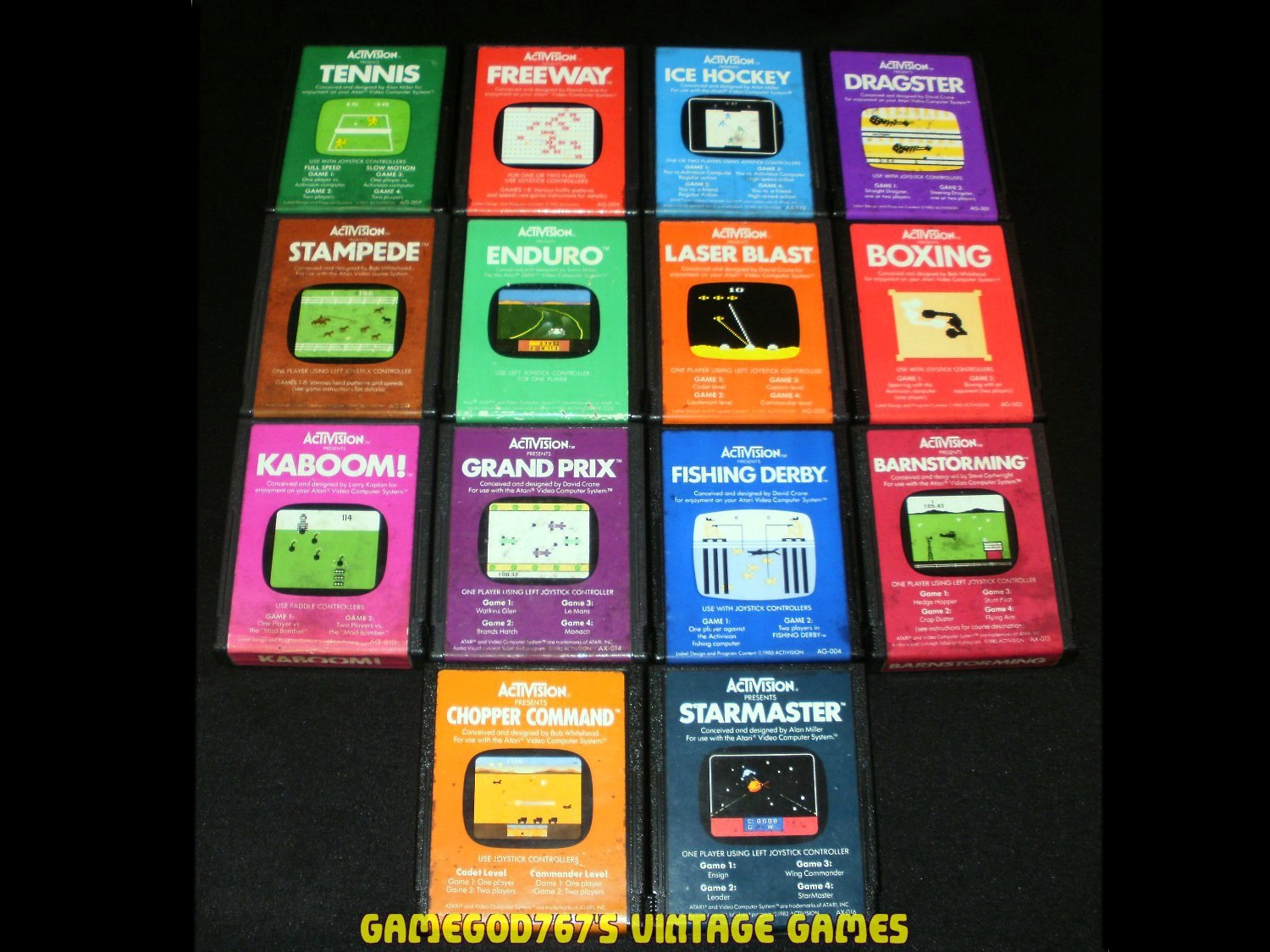 Atari 2600 Activision Game Collection - With Cartridge Case - 14 Activision Classics