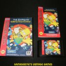 The Simpsons Bart's Nightmare - Sega Genesis - Complete CIB