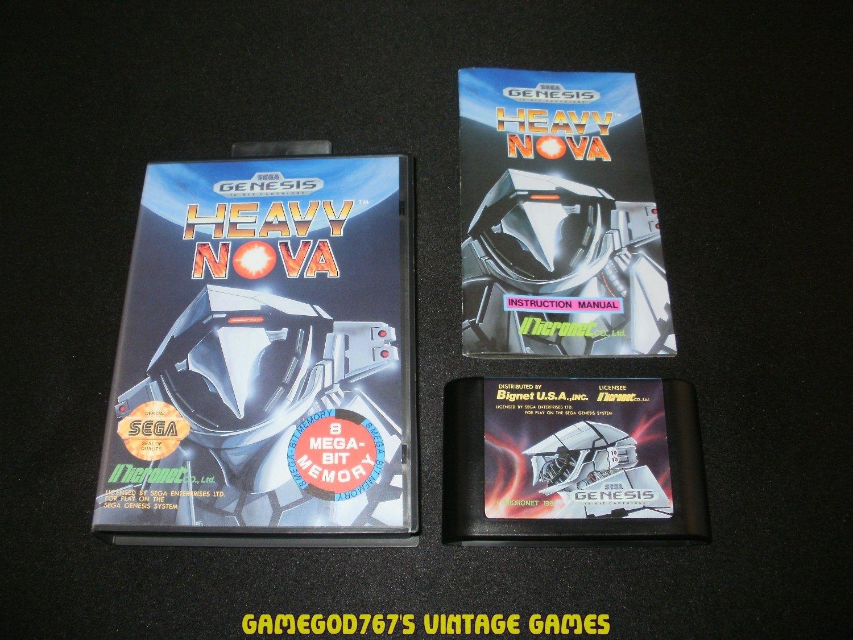 Heavy Nova - Sega Genesis - Complete CIB