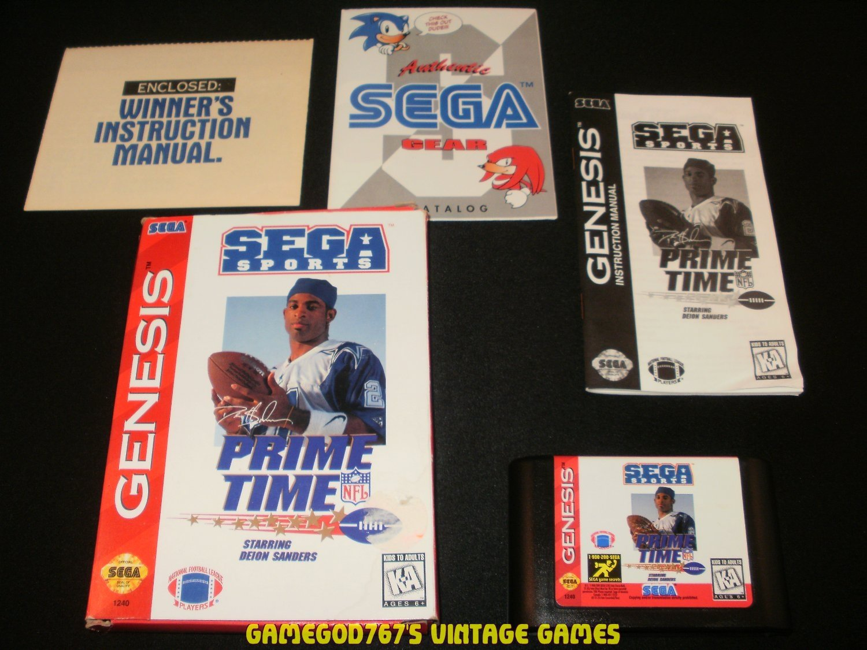 Prime Time NFL Football Starring Deion Sanders - Sega Genesis - Complete CIB