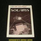 Solaris - Atari 2600 - 1988 Manual Only