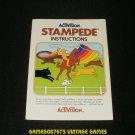 Stampede - Atari 2600 - 1981 Manual Only