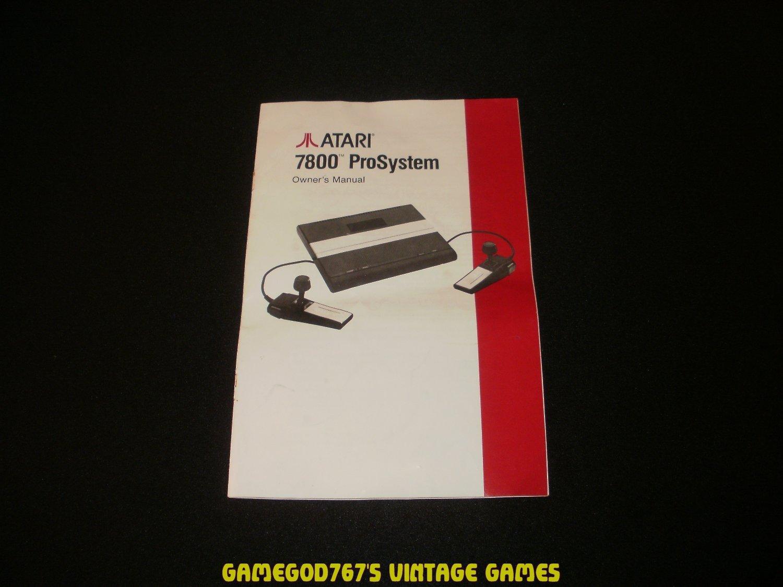 ProSystem Owner's Manual - Atari 7800 - 1986 Manual Only