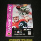 NFL Quarterback Club 96 - Sega Game Gear - 1995 Manual Only
