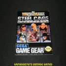 WWF Wrestlemania Steel Cage Challenge - Sega Game Gear - 1992 Manual Only